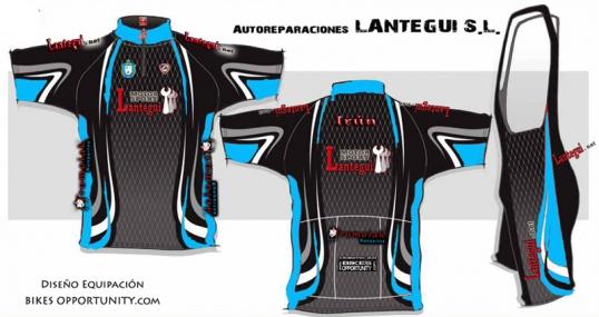 Nueva equipación ciclista de Lantegui